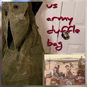 Vintage Vietnam US Military Army duffle bag